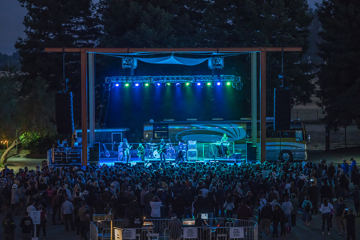 SOMO Events center Stage built by SOMO Construction